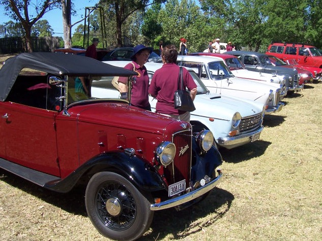 Austin cars at the Australiana Village in Wilberforce
